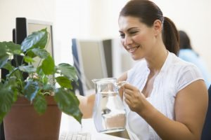 Relieve stress watering plants