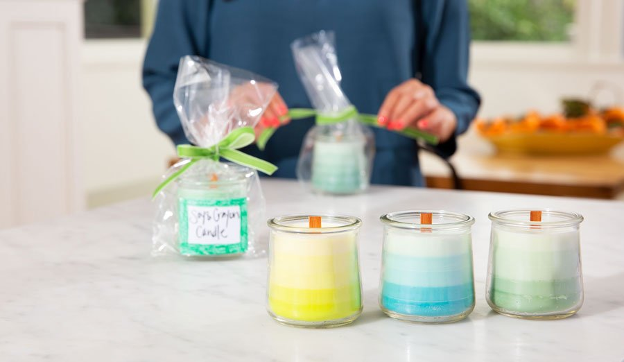 Candle making holiday shopping on a budget