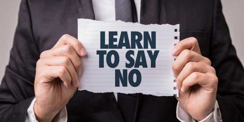 Reduce Stress by Learning to Say No